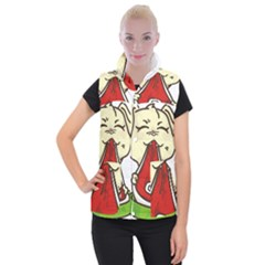 Doggy Dog Puppy Animal Pet Figure Women s Button Up Vest