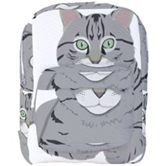 Cat Kitty Gray Tiger Tabby Pet Full Print Backpack