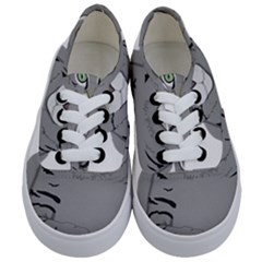 Cat Kitty Gray Tiger Tabby Pet Kids  Classic Low Top Sneakers