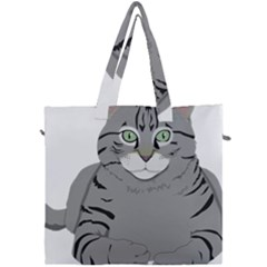 Cat Kitty Gray Tiger Tabby Pet Canvas Travel Bag by Sapixe