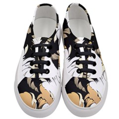 Dog Sitting Pet Collie Animal Women s Classic Low Top Sneakers