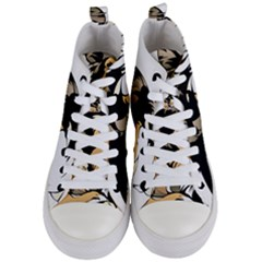 Dog Sitting Pet Collie Animal Women s Mid Top Canvas Sneakers