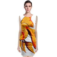 Goldfish Fish Tank Water Tropical Classic Sleeveless Midi Dress