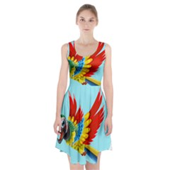 Parrot Animal Bird Wild Zoo Fauna Racerback Midi Dress