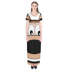 Doh Puppy Happy Pet Hound Animal Short Sleeve Maxi Dress