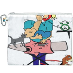 Housewife Multitasking Woman Canvas Cosmetic Bag (xxxl) by Sapixe