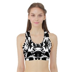Pirate Society  Sports Bra With Border