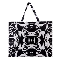 Pirate Society  Zipper Large Tote Bag