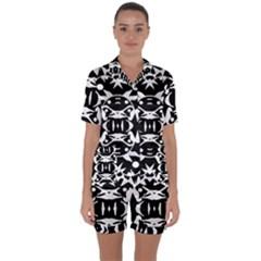 Pirate Society  Satin Short Sleeve Pyjamas Set