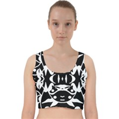 Pirate Society  Velvet Racer Back Crop Top