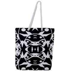 Pirate Society  Full Print Rope Handle Tote (large)