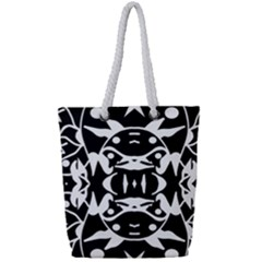 Pirate Society  Full Print Rope Handle Tote (small)