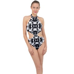 Pirate Society  Halter Side Cut Swimsuit