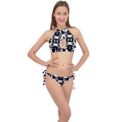 Pirate Society  Cross Front Halter Bikini Set