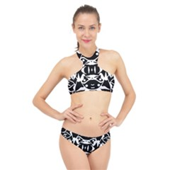 Pirate Society  High Neck Bikini Set