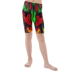 Faces Kids  Mid Length Swim Shorts