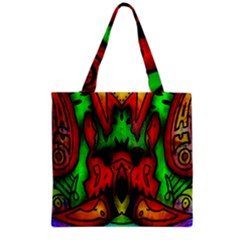 Faces Grocery Tote Bag