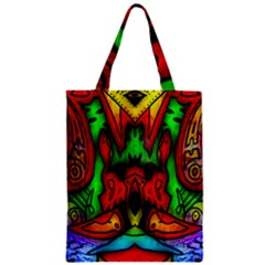 Faces Zipper Classic Tote Bag