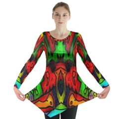Faces Long Sleeve Tunic