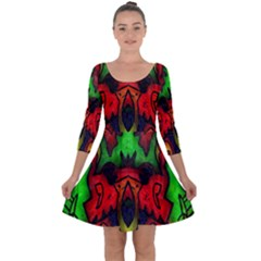 Faces Quarter Sleeve Skater Dress