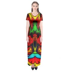 Faces Short Sleeve Maxi Dress
