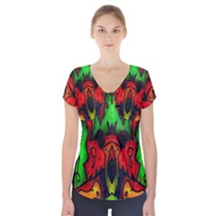 Faces Short Sleeve Front Detail Top