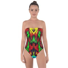 Faces Tie Back One Piece Swimsuit