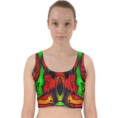 Faces Velvet Racer Back Crop Top