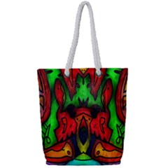 Faces Full Print Rope Handle Tote (small)