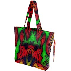 Faces Drawstring Tote Bag