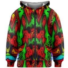 Faces Kids Zipper Hoodie Without Drawstring