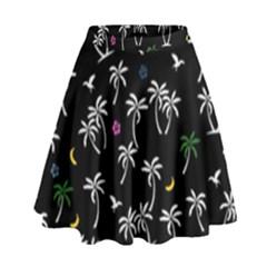 Tropical Pattern High Waist Skirt by Valentinaart