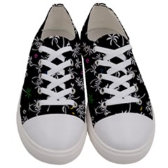 Tropical Pattern Women s Low Top Canvas Sneakers