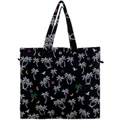 Tropical Pattern Canvas Travel Bag by Valentinaart