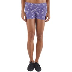 Tropical Pattern Yoga Shorts