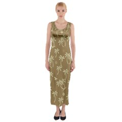 Tropical Pattern Fitted Maxi Dress by Valentinaart
