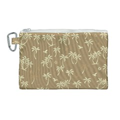 Tropical Pattern Canvas Cosmetic Bag (large) by Valentinaart