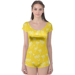 Tropical Pattern Boyleg Leotard