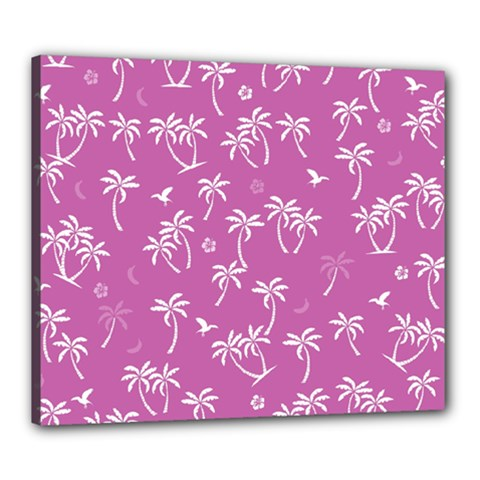 Tropical Pattern Canvas 24  X 20  by Valentinaart