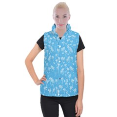 Tropical Pattern Women s Button Up Vest