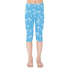 Tropical Pattern Kids  Capri Leggings