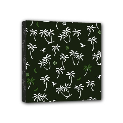 Tropical Pattern Mini Canvas 4  X 4