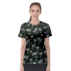 Tropical Pattern Women s Sport Mesh Tee