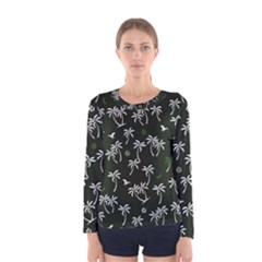 Tropical Pattern Women s Long Sleeve Tee