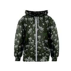 Tropical Pattern Kids  Zipper Hoodie