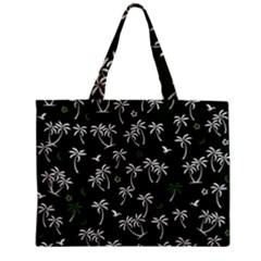 Tropical Pattern Zipper Mini Tote Bag