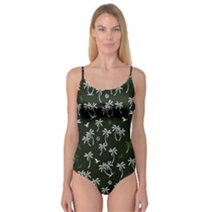 Tropical Pattern Camisole Leotard