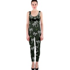 Tropical Pattern One Piece Catsuit