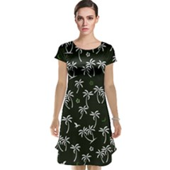 Tropical Pattern Cap Sleeve Nightdress