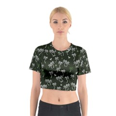 Tropical Pattern Cotton Crop Top